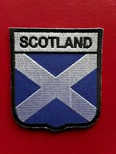 SCOTLAND SCOTTISH SHIELD FLAG FOOTBALL RUGBY EMBROIDERED QUALITY PATCH UK SELLER