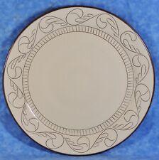 "Pottery Barn CABRERRA Cream & Brown Incised 14"" Stoneware Chop Plate Platter"