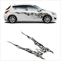 Flame Graphics Racing Stripes Sticker Universal Decal Vinyl  DIY Car Body Side