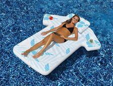 Hawaiian Cabana Shirt Pool Float Inflatable Mat Swimline 90604 Beach Water Party