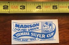 VINTAGE AMA Yamaha Silver Cup Decal, Madison Square Garden. Indoor Race