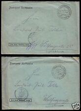 Konglomerat von sechs Briefen vom Finanzamt Nordhausen, 1927 bis 1930