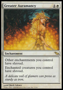 GREATER AURAMANCY - MTG Shadowmoor Rare Enchantment