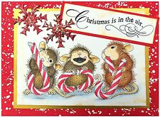 Christmas Candy HOUSE MOUSE Wood Mounted Rubber Stamp STAMPENDOUS HMP02 New