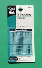 Dritz Embroidery Hand Sewing Needles - Size 7 - 16 pack - #56E-7