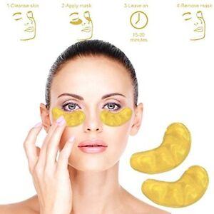 10 (20) Pcs Eye Gold Collagen Mask Anti Wrinkle Gel Sheet Powder TonyMoly USA