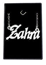 Collier Prénom ZAHRA 18K Plaqué or blanc - Arabe Musulman Accessoires De mariée
