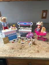 Mattel 1995 Barbie & Kelly Supermarket With Magnetic Food Included