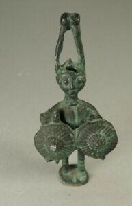 """Antique """"CIVILTA NURAGICA ARCIERE"""" Nuragic warrior- Bronze Statue Figure"""