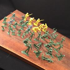 Vintage Toy Army Men Figure Lot (43) Plastic Hong Kong Priority Mail