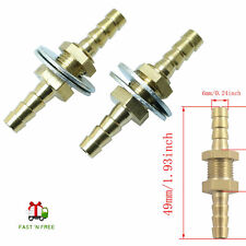 Hose Barb Bulkhead Hex Union Brass Barbed Fitting Connector Flat Washer 2pcs