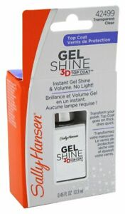 Sally Hansen Gel Shine 3D Top Coat #42499 Transparent Clear (4 PACK)