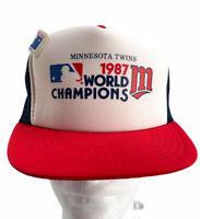 Vtg 1987 World Series Champs Minnesota Twins Snapback Trucker Mesh Hat NEW W/tag