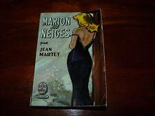 Marion des neiges Jean Martet Livre de Poche ancien vieux VINTAGE 60 'S 1961 #MH