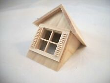 Half Scale 1:24 - Window & Gable  Dormer  - Dollhouse wooden #H7002 Houseworks