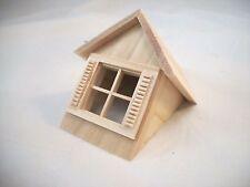 Half Scale 1:24 - Window & Gable  Dormer  - Dollhouse wooden #H7002 Houseworks