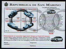 SAN MARINO 1999 foglietto industrie auto AUDI  nuovo **
