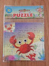 Petit puzzle cartonné crabe 24 pièces (13 cm x 13 cm) NEUF