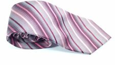 Multi Colored Galvin Vintage Tie Silk Diagonal Stripes Pattern