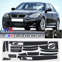 18Pcs Carbon Fiber Sticker Interior Vinyl Decal For BMW 5 Series E60  !! !! !!