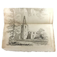 Authentic Antique 1700-1800's Engraving On Paper — Manuscript Artwork Art Old K