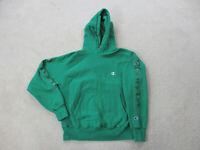 VINTAGE Champion Sweater Adult Medium Green Reverse Weave Hoodie Mens 90s *