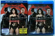 DC BATMAN V SUPERMAN DAWN OF JUSTICE BLU RAY DVD 3 DISC SET + SLIPCOVER SLEEVE