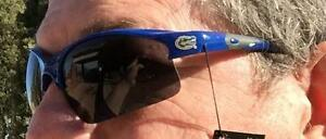 Florida Gators Licensed Sunglasses Blue Laser Print Logo Rubber Ear Glasses