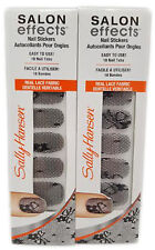Sally Hansen Salon Effects Nail Stickers (2 Packs of 18) 846 Little Black Lace