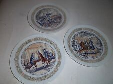 D'ARCEAU-LIMOGES FRENCH NUMBERED DECORATIVE PLATES LOT OF 3