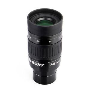 "SVBONY SV135 7-21mm 1,25"" Okulare Fully Multi-Coated+Objektivdeckel+saubere Tuch"