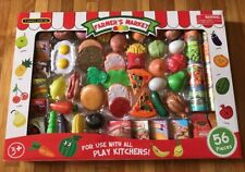 """Multi Toys Farmer's Market 56 Pieces Kit For Play Kitchens Children's Toy  """"NEW"""""""