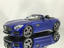 Norev Mercedes-Benz GT C (R190) AMG Roadster Convertible Model Car Blue 1:18