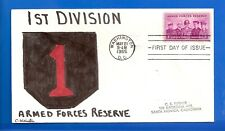 SCOTT 1067 ARMED FORCES RESERVE HAND PAINTED FIRST DAY COVER FDC VETERANS