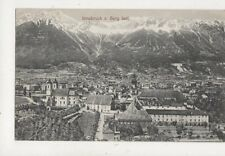 Innsbruck Von Berg Isel Austria 1908 Postcard 887a