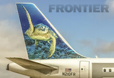 "Frontier Airlines Tail Logo Fridge Magnet 3.25""x2.25"" Collectibles (PMCT4024)"