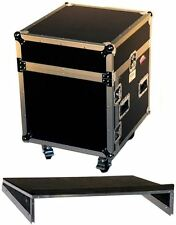 Pro X T-10MRSS 10U x 10U Space Rack Flight Case + FREE Sliding Laptop Shelf Incl