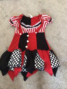 "Ladies adult clown circus fancy dress costume - size medium 38-40"""