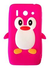 Hot Pink Silicone Penguin Phone Case / Cover for Huawei Ascend G510