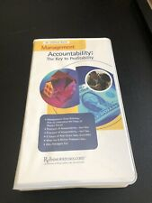 Dr. Clifford Baird Management Accountability Key Profitability vintage tapes