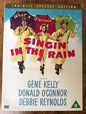 Gene Kelly SINGIN' IN THE RAIN ~ 1952 Musical 2-Disc Spec Ed UK DVD w/ Slipcover