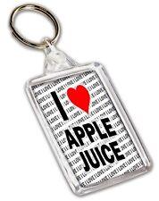 I Love Apfelsaft Schlüsselring - Geschenk - Geburtstag - Weihnachten -