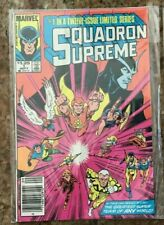 SQUADRON SUPREME 1 NEWSSTAND 6 EXILES ANNUAL 1 & 100 HIGHER GRADES AVENGERS