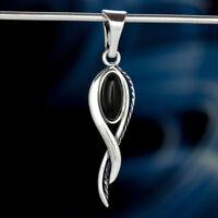 Onyx Silber 925 Anhänger Sterlingsilber Damen Schmuck A513