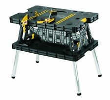 Folding Work Table Bench Tools Portable Station Garage Mobile Shop Wood Clamps