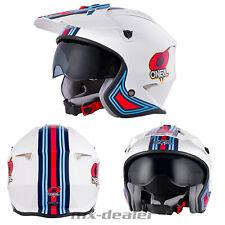 2021 O'Neal Volt MN1 Helm mit Visier Weiß Trial Roller Enduro Supermoto Quad