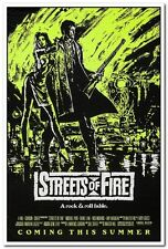 STREETS OF FIRE - 1984 orig 27x41 movie poster- RARE Yellow Advance MICHAEL PARE