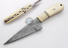 "8.00"" Custom Hand made Beautiful Damascus Steel skinning Hunting Knife (1144)"
