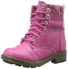 NEW Steve Madden Tjacksin Zipper Back Lace Up Girl's Boots Little Kid 11 M Pink