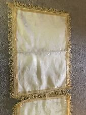 mediterranean Style 2 Gold Pillow Cases & Throw Blanket. Full Size Bed Decor